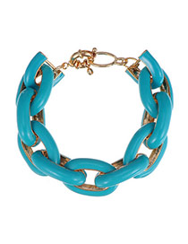 Trendy Green Chain Shape Decorated Simple Design