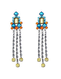 Swanky Multicolor Diamond Decorated Tassel Design