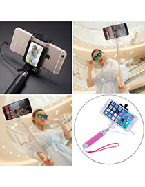 High-quality Pink Self-timer Free Bluetooth Simple Design Stainless Steel Phone holder