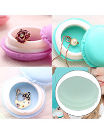 Lovely Mint Green Round Shape Simple Design Silica Gel Jewelry box