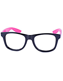 Personality Black+plum Red Star Pattern Decorated Simple Design(without Lens)  Alloy Fashon Glasses