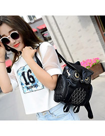 Personality Black Owl Shape Simple Design