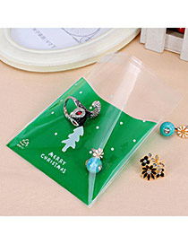 Sweet Green Dot & Christmas Tree Pattern Simpe Design Polypropylene Jewelry Tools