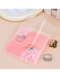 Sweet Pink Lace Pattern Simple Design (100pcs)