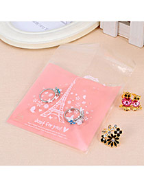 Sweet Pink&white Eiffel Tower Pattern Simple Design Polypropylene Jewelry Tools