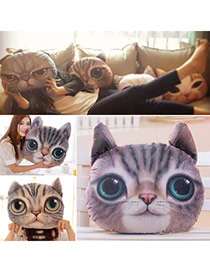 Personality Dark Gray Cat Pattern Simple Design  Cotton Household goods
