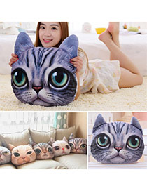 Personality Light Gray Cat Pattern Simple Design  Cotton Household goods