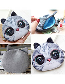 Personality Gray Cat Pattern Simple Design