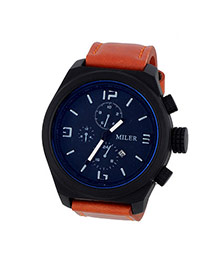Fashion Brown Four Dial Decorated Sport Design  Alloy Men's Watches