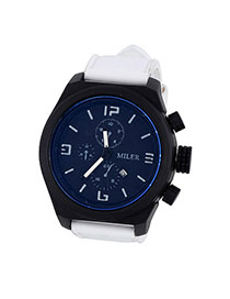Fashion White Four Dial Decorated Sport Design  Alloy Men's Watches