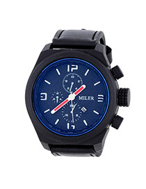 Fashion Black Four Dial Decorated Sport Design  Alloy Men's Watches