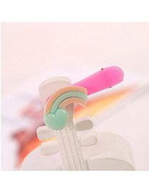 Sweet Pink&blue Rainbow Decorated Simple Design  Acrylic Hair clip hair claw