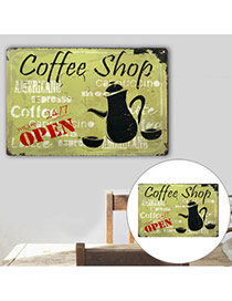 Nostalgic Multicolor Letter Coffee Shop Decorated Simple Design  Iron Household goods