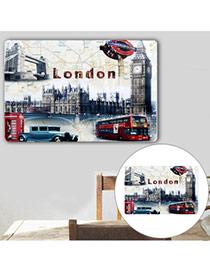 Nostalgic Multicolor Bus Pattern Decorated Simple Design  Iron Household goods