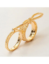 Fashion Gold Color Bow Tie Decorated Simple Design  Alloy Korean Rings