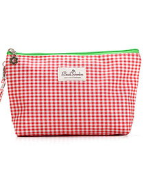 Fashion Red Grid Pattern Simple Design  Waterproof Cloth Home Storage Bags