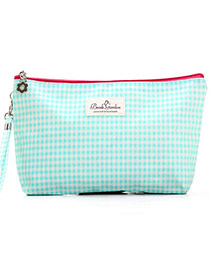 Fashion Green Grid Pattern Simple Design  Waterproof Cloth Home Storage Bags