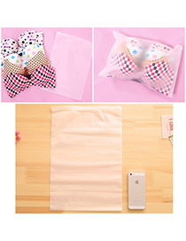 Concise Transparent White Pure Color Sealed Design  Eva Home Storage Bags