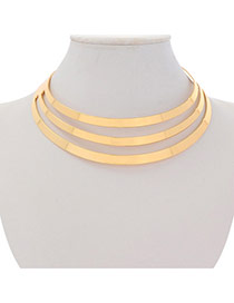 Personalized Gold Color Multilayer Hollow Out Design