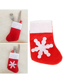 Lovely Red Glove Pattern Decorated Square Shape Simple Placemat
