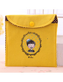 Personality Yellow Little Boy Pattern Decorated Simple Design  Canvas Household goods