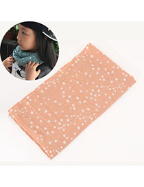 Pretty Light Pink Star Pattern Decorated Simple Design