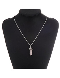 Fashion Pink Bullet Pendant Decorated Simple Design Alloy Chains