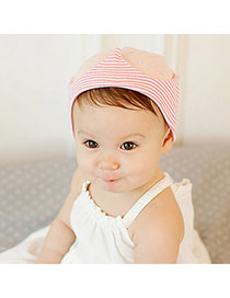 Lovely Pink Star&stripe Pattern Decorated Simple Design  Cotton Children's Hats