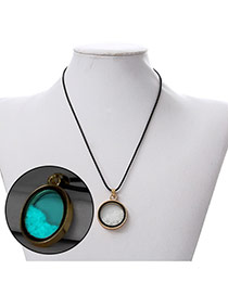 Personality Light Blue Round Shape Pendant Decorated Noctilcent Design