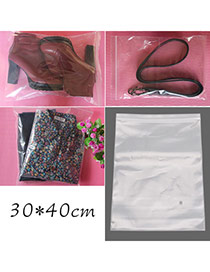 Fashion Transparent Color Pure Color Large Size Hermetic Bag(10pcs) Plastic Household goods