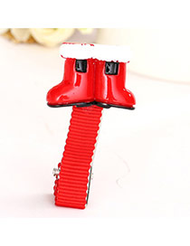 Cute Red Boots Shape Decorated Simple Design  Alloy Festival Party Supplies