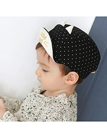 Cute Black Dot&ears Decorated Pure Color Design