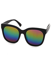 Simplicity Multi-color Square Frame Decorated Simple Design  Plastic Women Sunglasses