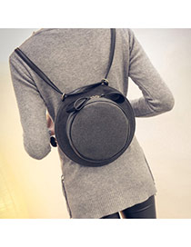 Personality Gray Hat Shape Simple Design  Woolen Backpack