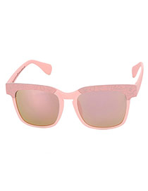 Fashion Pink Border Decorated Square Lens Design