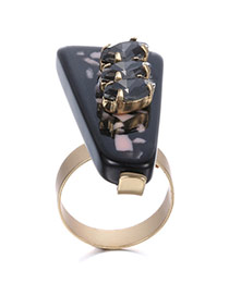 Personality Black Geometry Shape Decorated Simple Design Alloy Fashion Rings