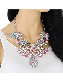 Fashion Multicolor Diamond Decorated Flower Shape Design
