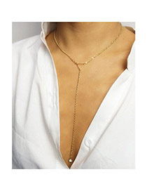 Fashion Gold Color Triangle Shape Decorated Simple Design