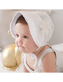 Sweet Cotton Flower Decorated Hollow Out Design  Cotton Kids Accessories