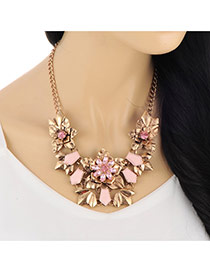 Retro Bronze Diamond Decorated Flower Shape Design