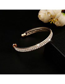 Trending Gold Color Double Layer Diamond Decorated Opening Design