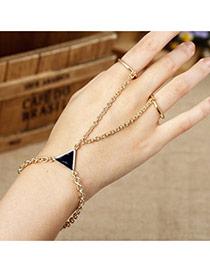Trending Gold Color Triangle Shape Decorated Simple Design