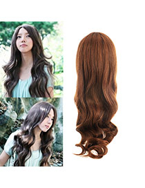 Fashion Light Brown Carve Long Curly Design