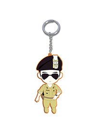 Fashion Multicolor Cartoon Man Pendant Decorated Dots Descendants Of The Sun Alloy Fashion Keychain