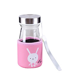 Trendy Pink Rabbit Pattern Decorated Mini Design Dots Descendants Of The Sun(350ml)
