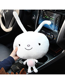 Trendy White Rabbit Shape Car Headrest Dots Descendants Of The Sun Fabric Household goods