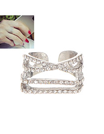 Fashion Silver Solor Diamond Decorated Multilayers Design