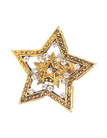 Fashion Gold Color Hollow Out Decorated Star Shape Design