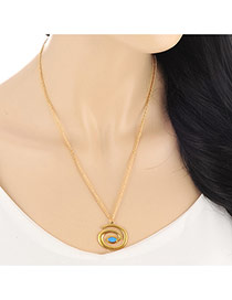 Fashion Gold Color Snake Pendant Decorated Simple Design Alloy Bib Necklaces