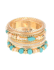 Vintage Gold Color Irregulary Dimond Decorated Multilayers Design